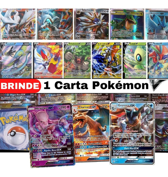 Lote 15 Cartas Pokemon: 14 Gx + 1 Mega Ex