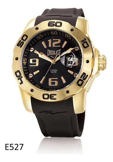 Relógio Pulso Everlast Masculino Calendário Preto E527