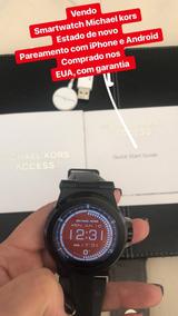Relógio Michael Kors Smartwatch Preto Silicone Orignal