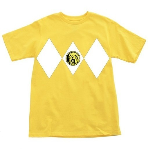 Playera Infantil Niña Con Diseño Power Ranger Yellow