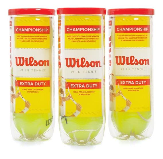 Bola De Tênis Wilson Championship - Pack 3 Tubos