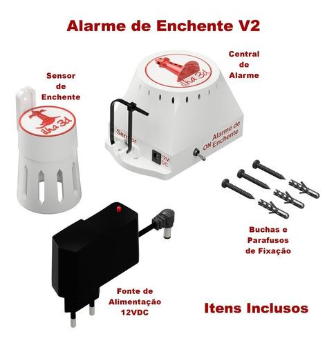 Imagem 1 de 9 de Promoção Kit Alarme De Enchente - Frete Grátis