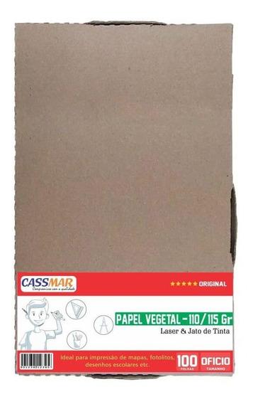 Papel Vegetal Ofício 216x355mm 110/115g Translúcido 100fls