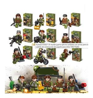 Set 9pzs Soldados Militares Equipo Chase Comando Lego