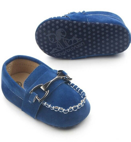 Sapatinho Social Infantil Azul