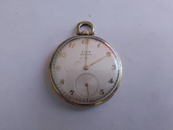 Reloj Elgin Antiguo De Bolsillo 1949 D Colección Funcionando