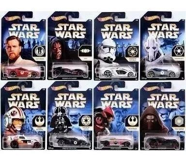 Coleção Completa Hot Wheels Star Wars Disney 8 Carros