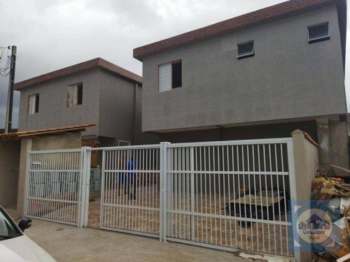 Casa Com 2 Dormitórios À Venda, 45 M² Por R$ 209.000,00 - Parque São Vicente - São Vicente/sp - Ca1243