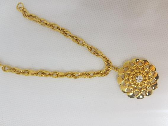 Pulseira Transsada Com 5 Milésimos No Ouro Com Pedra Zircone