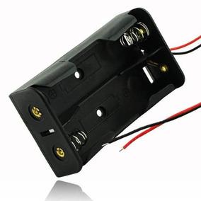 Suporte Bateria 18650 Duplo Arduino Raspberry