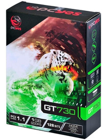 Placa De Vídeo Vga Pcyes Nvidia Geforce Gt 730 Gaming, 1gb