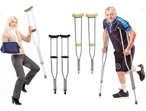 Muletas Ortopedica De Aluminio Graduable Importada Baston