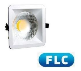 Luminaria Cob 20w Quadrado 3000k Flc (3 Peças)