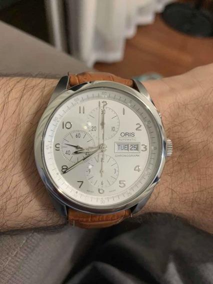 Relógio Oris Xxl 7515 Automático Crono Suíço Valjoux 7750