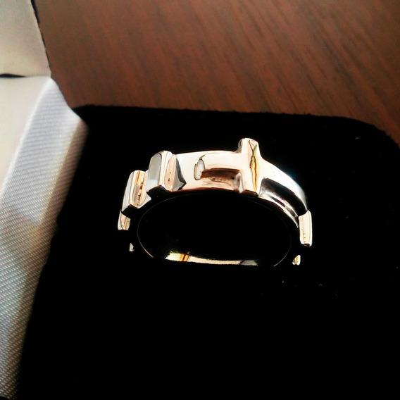 Anel De Prata 925 Masculino Terço Religioso Quadrado 6mm