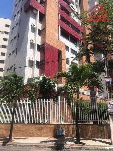 Apartamento Com 3 Dormitórios À Venda, 97 M² Por R$ 450.000,00 - Meireles - Fortaleza/ce - Ap1707