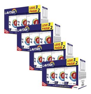 Kit 12 Multi Vitaminas Lavitan A-z 720 Caps No Total