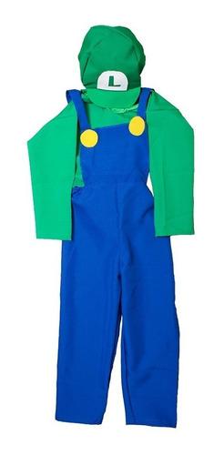 Disfraz Mario Bross Adultos- Luigi - Cosplay Halloween