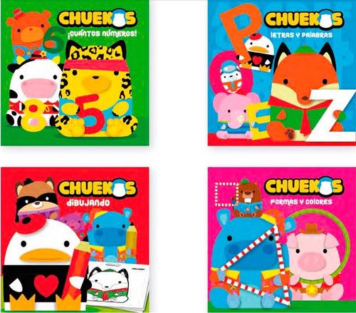 Libro Para Colorear Didáctico Chuekos Ap Colección 4 Libros