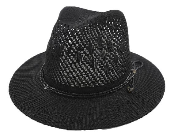 Sombrero Estilo Panama C/cinta Cuerina Art:290063