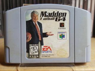 Madden 64 Para Nintendo 64 ¡excelente Juego Coleccionable!