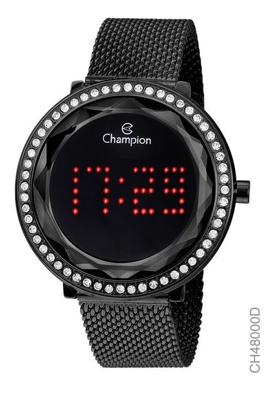 Relógio Digital Feminino Champion Ch48000d Preto