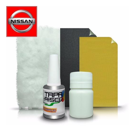 Tinta Tapa Tira Risco + Kit Polimento Nissan - Prata Breeze