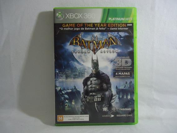 Jogo Xbox 360 - Batman Arkham Asylum - Físico