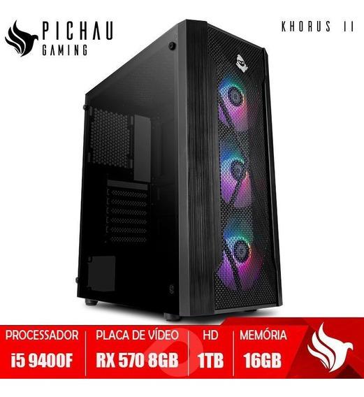 Pc Gamer Pichau Khorus Ii, I5-9400f, Rx 570 8gb, 16gb, Hd1tb