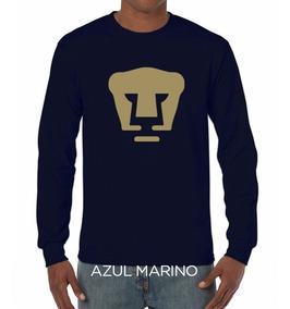 Camiseta Pumas Oro Logo Estampada / Manga Larga