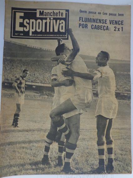 Revista Manchete Esportiva 108 Dez 1957 Pelé Santos Escola