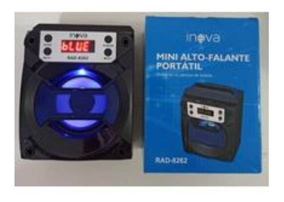 Kit 2 Mini Alto-falante Portátil Rad-8261 Usb Bluetooth Fm
