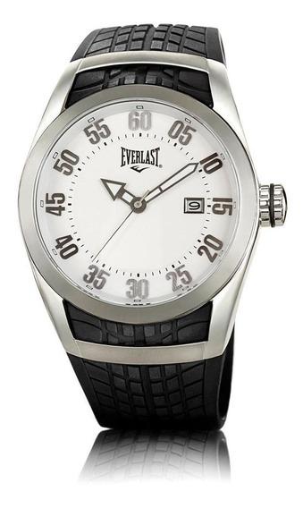 Relógio Pulso Everlast Masculino Aço Silicone Preto E198