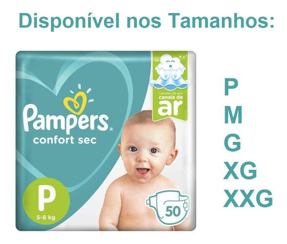 Fralda Pampers Confort Sec P M G Xg Xxg Promoção Atacado