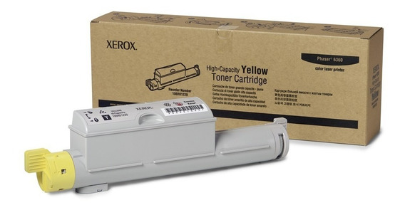 Cartucho Toner Xerox Phaser 12k Amarelo - 6360 - 106r01220