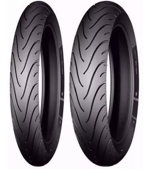 Par Pneu Michelin 2.75-18 E 100/90-18 Pilot Street Fazer 150