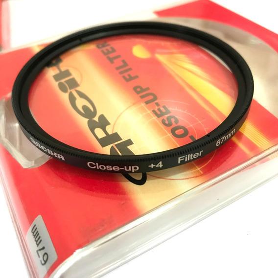Filtro Close Up 67mm +4 Greika Close Up Fotografia Macro