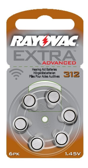 Pilha Aparelho Auditivo 312 Rayovac Extra Advanced