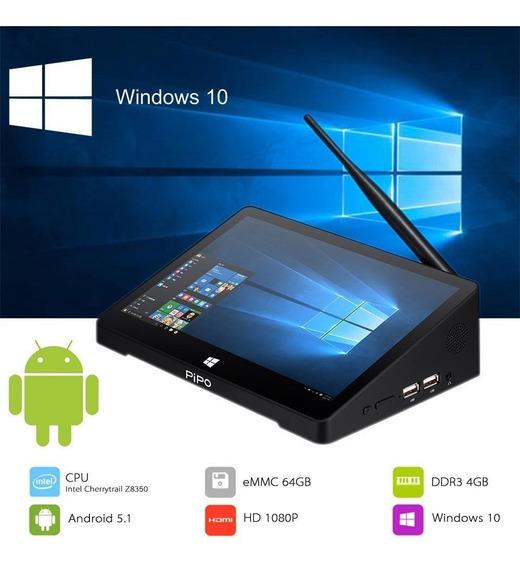 Mini Pc Pipo X12 Com Bateria Windows 10