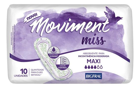 Absorvente Para Incontinência Moviment Miss Maxi - 10 Un