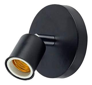 Aplique Lampara Mera 1 Luz Negro Nanoshop Diseño En Cuotas