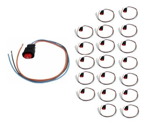 Interruptor Botao Auxiliar Pisca Alerta Universal Moto (20pc