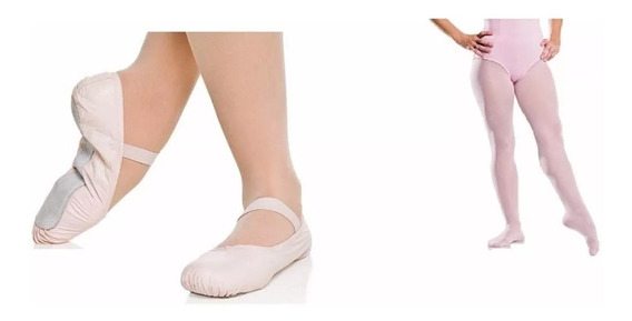Sapatilha E Meia Calca Para Ballet