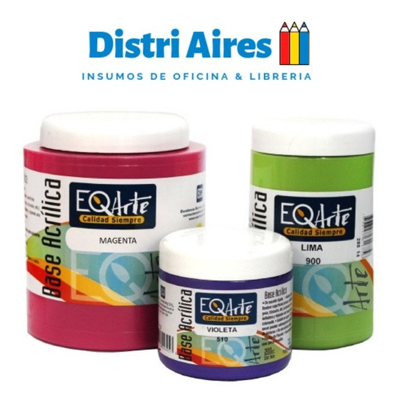 Set X 30 Pinturas Base Acrilica Eqarte X 200cc Vs Colores
