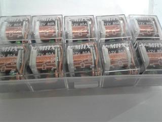 Relex Relay Transparente 5 Patas Cobre 80 Amp 10 Unidades