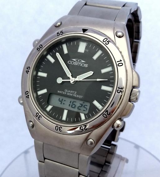 Relógio: Cosmos Anadigi Os11679 5atm