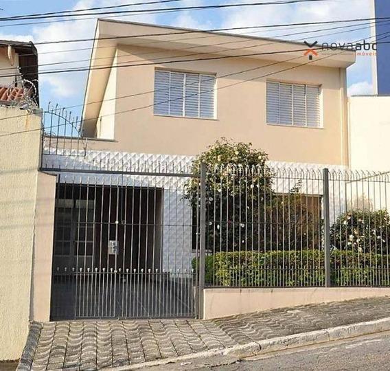 Sobrado Com 3 Dormitórios Para Alugar, 212 M² Por R$ 2.200,00/mês - Vila Bastos - Santo André/sp - So0377