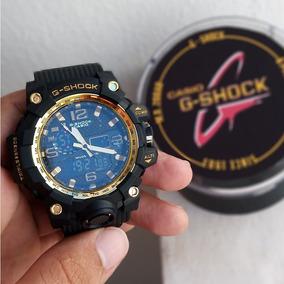 Relógio Masculino Preto Com Dourado Estilo Gshock
