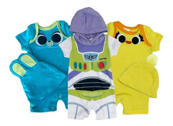 Kit Disney Toy Story De 3 Pañaleros Con Gorro