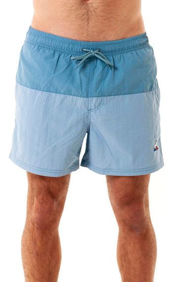 Shorts Swim Bicolor Short Celeste Hombre Le Coq Sportif